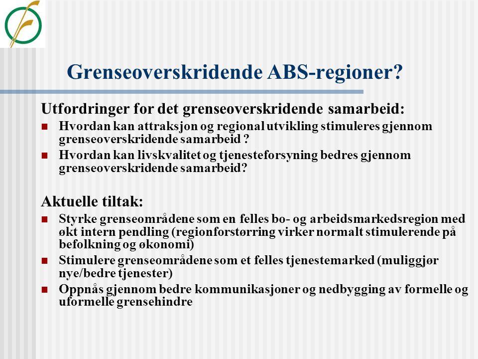 Infrastruktur og regional utvikling  Eksisterende næringsliv prioriterer oftest godstransport og veginvesteringer  Men flere svenske og norske under