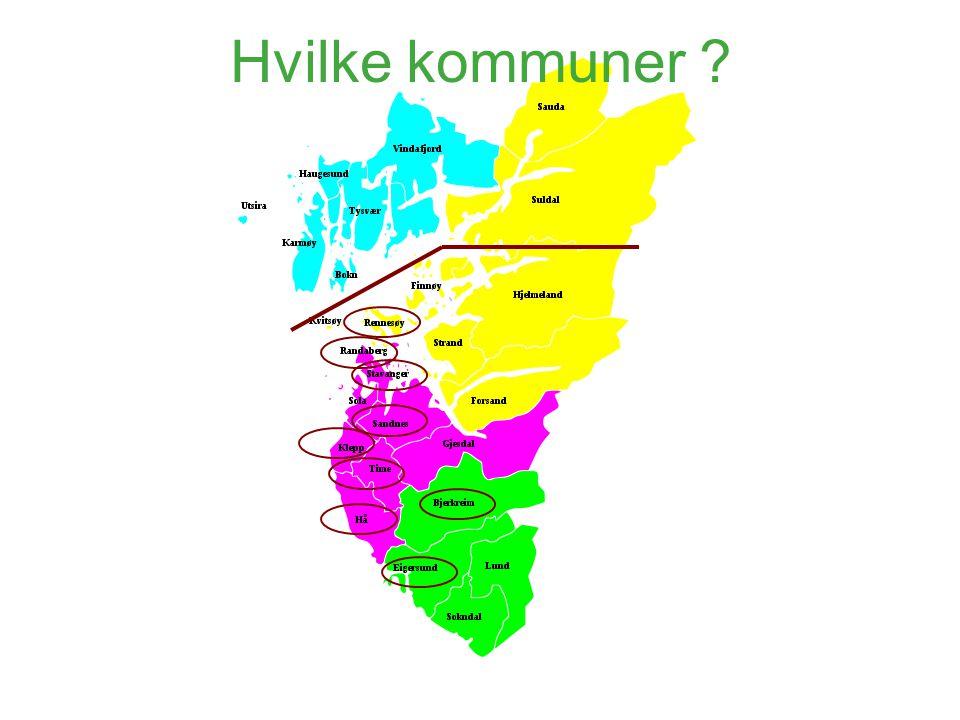 Hvilke kommuner ?
