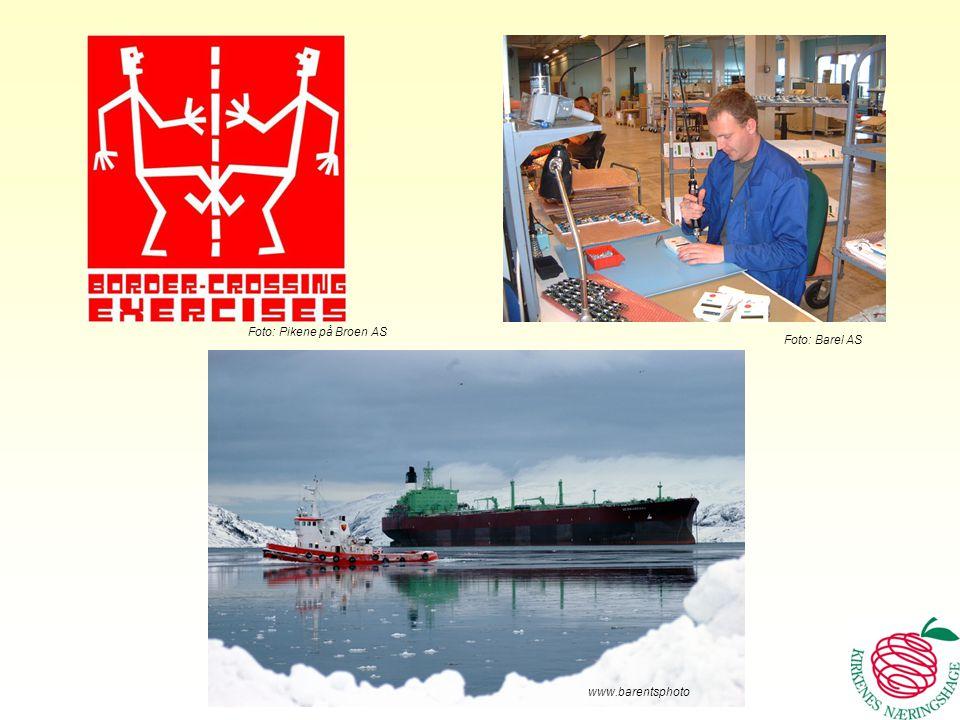 Bidrar til lønnsomme innovasjoner, økt konkurransekraft og vekst i Øst www.barentsphoto Foto: Barel AS Foto: Pikene på Broen AS