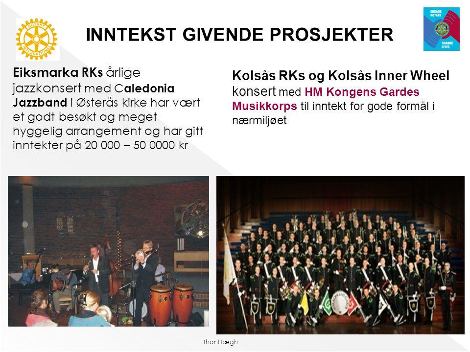 Thor Hægh Eiksmarka RKs årlige jazzkonsert med C aledonia Jazzband i Østerås kirke har vært et godt besøkt og meget hyggelig arrangement og har gitt i