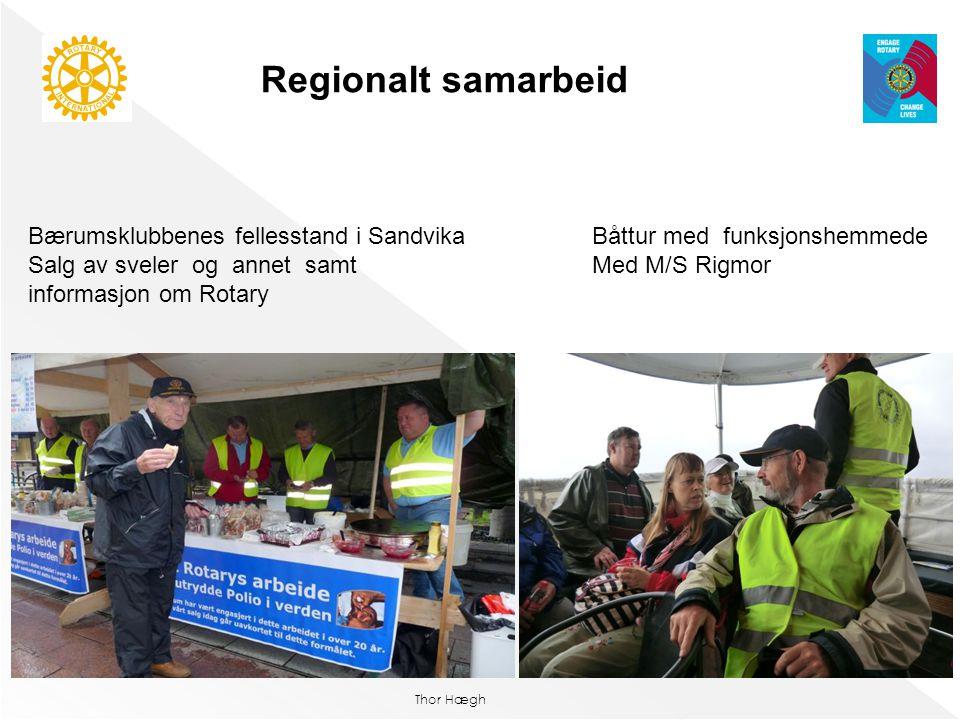 Thor Hægh Bærumsklubbenes fellesstand i Sandvika Salg av sveler og annet samt informasjon om Rotary Regionalt samarbeid Båttur med funksjonshemmede Me