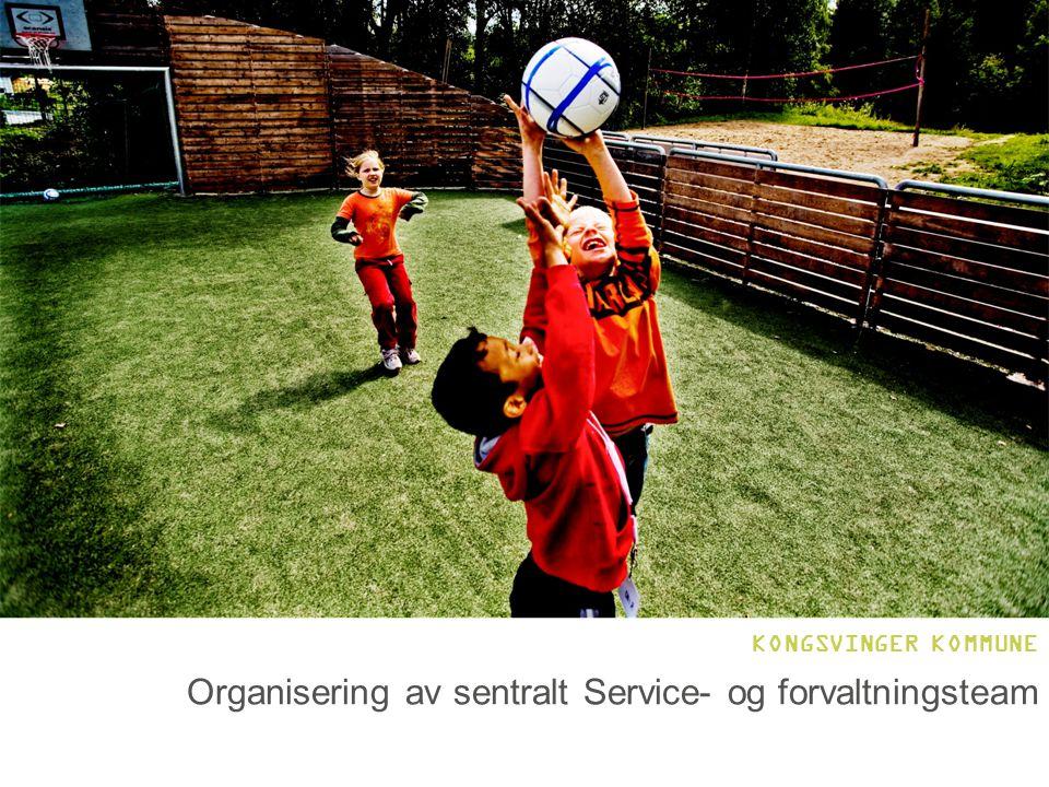 Organisering av sentralt Service- og forvaltningsteam KONGSVINGER KOMMUNE