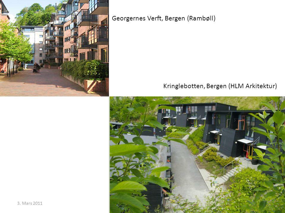3. Mars 2011Egil Skavang Georgernes Verft, Bergen (Rambøll) Kringlebotten, Bergen (HLM Arkitektur)
