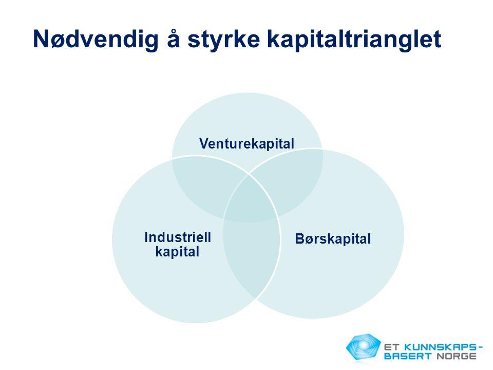 Venturekapital Børskapital Industriell kapital Nødvendig å styrke kapitaltrianglet