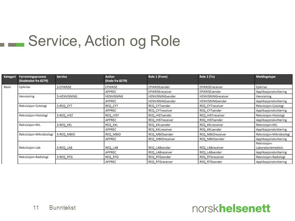 Service, Action og Role Bunntekst11