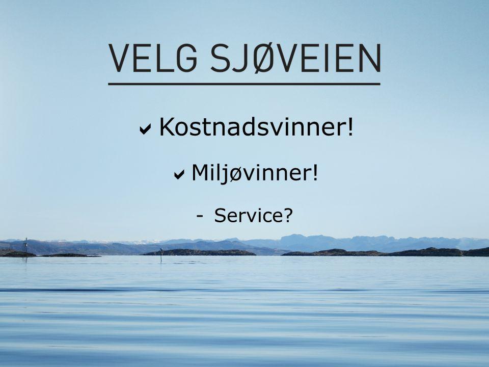  Kostnadsvinner!  Miljøvinner! -Service