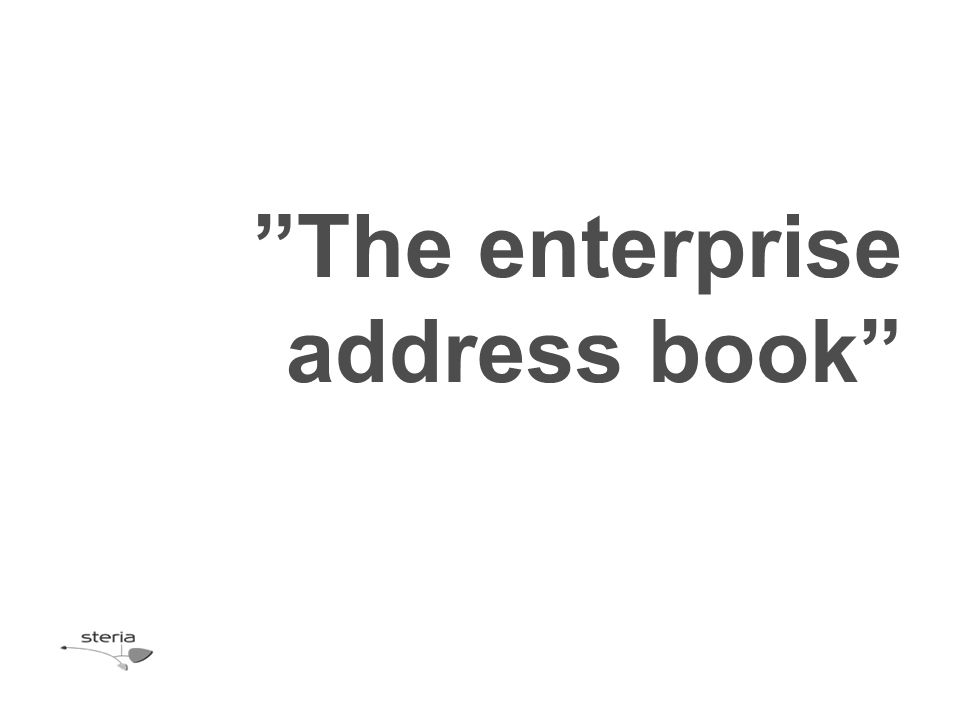 The enterprise address book