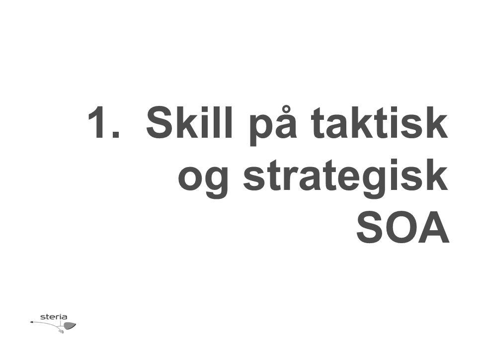 1.Skill på taktisk og strategisk SOA