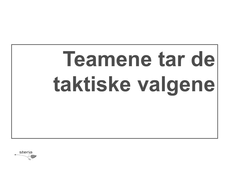 Teamene tar de taktiske valgene