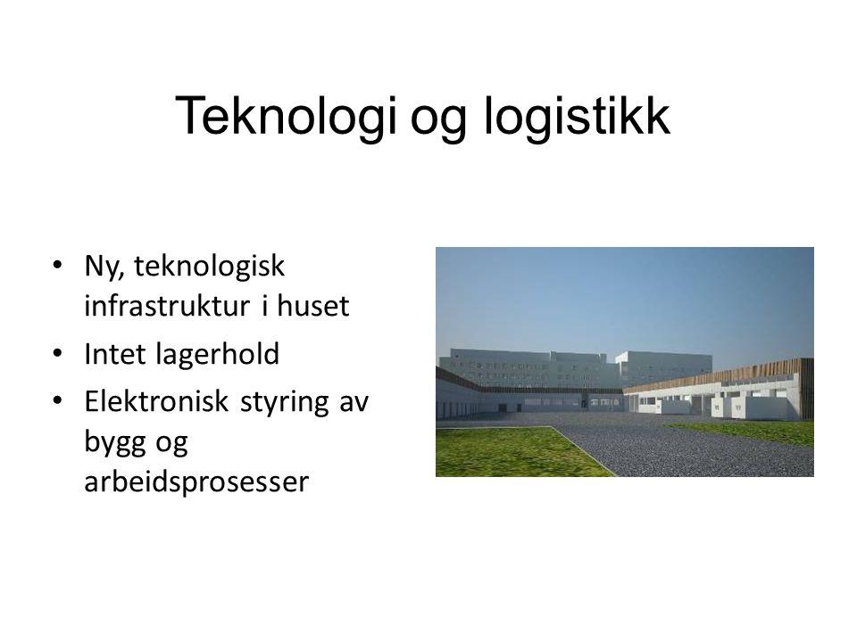 Teknologi og logistikk • Ny, teknologisk infrastruktur i huset • Intet lagerhold • Elektronisk styring av bygg og arbeidsprosesser