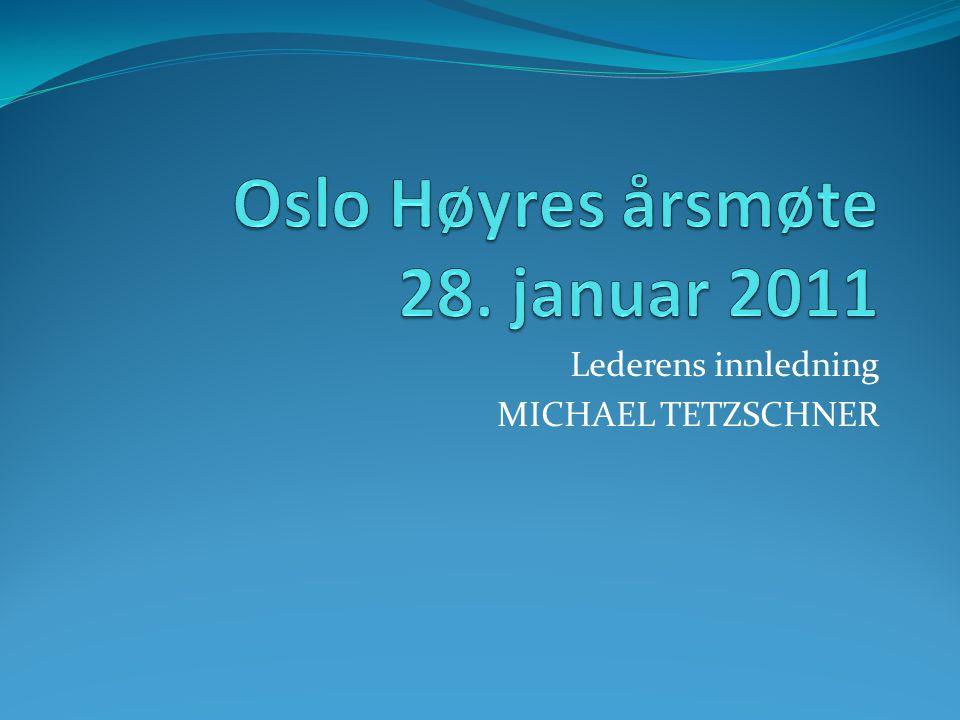 Lederens innledning MICHAEL TETZSCHNER