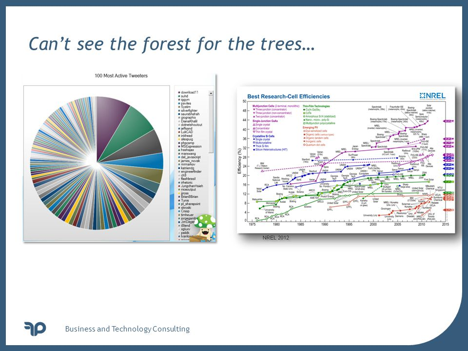 v Business and Technology Consulting Can't see the forest for the trees…