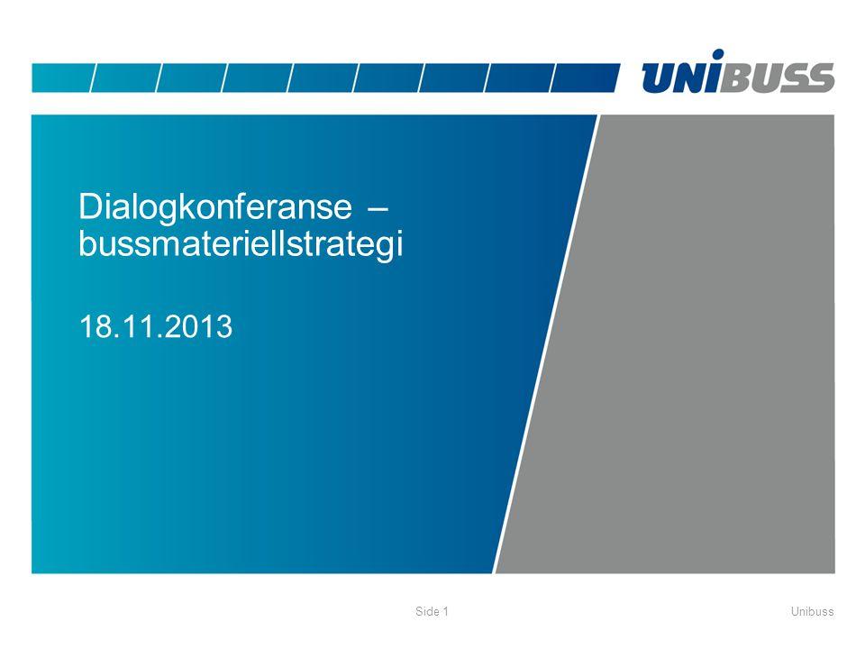 Dialogkonferanse – bussmateriellstrategi 18.11.2013 UnibussSide 1