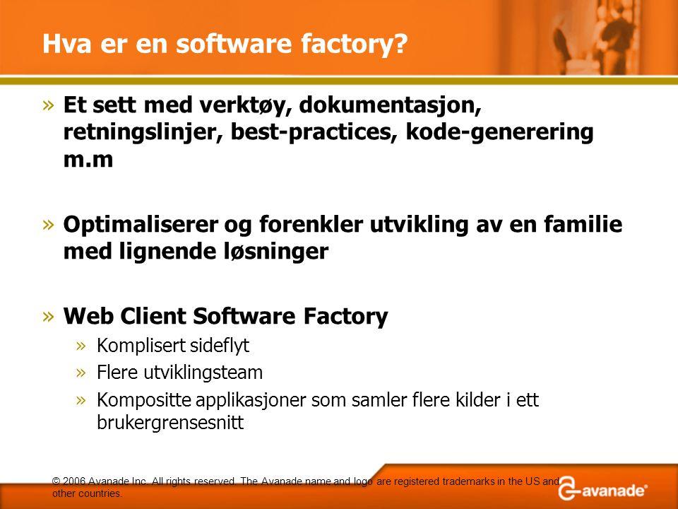 Hva er en software factory.