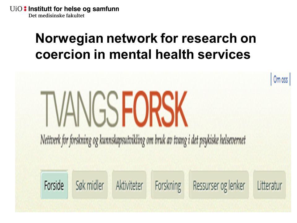 Sammenligning av funn i 2009 med funn fra 2001–2007 (Bjørkly et al. 2011) Tonje Lossius Husum24