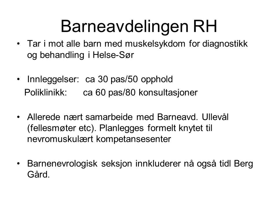 Revmatologisk avdeling.•Nasjonalt ansvar for polimyocitter, 250 i diagnoseregisteret.