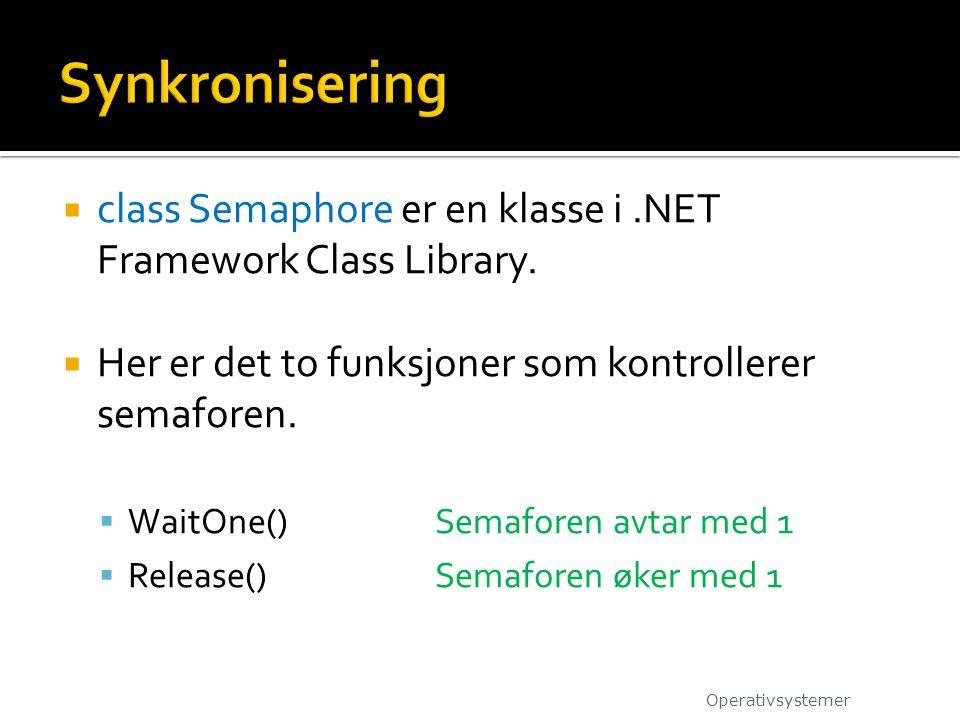  class Semaphore er en klasse i.NET Framework Class Library.