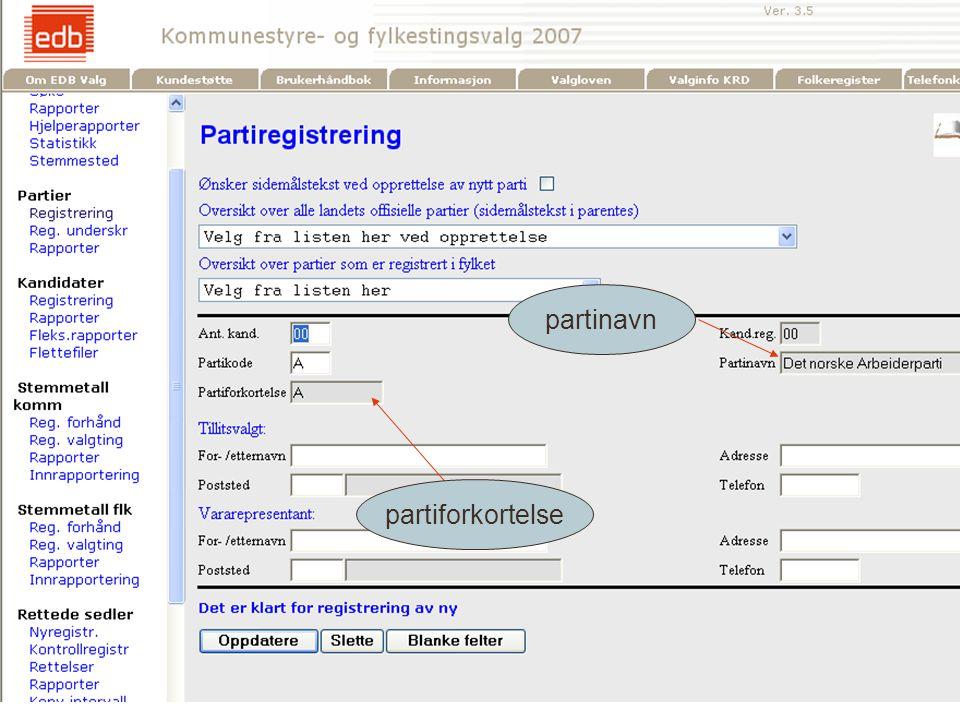 EDB Business Partner > slide 4 partiforkortelse partinavn