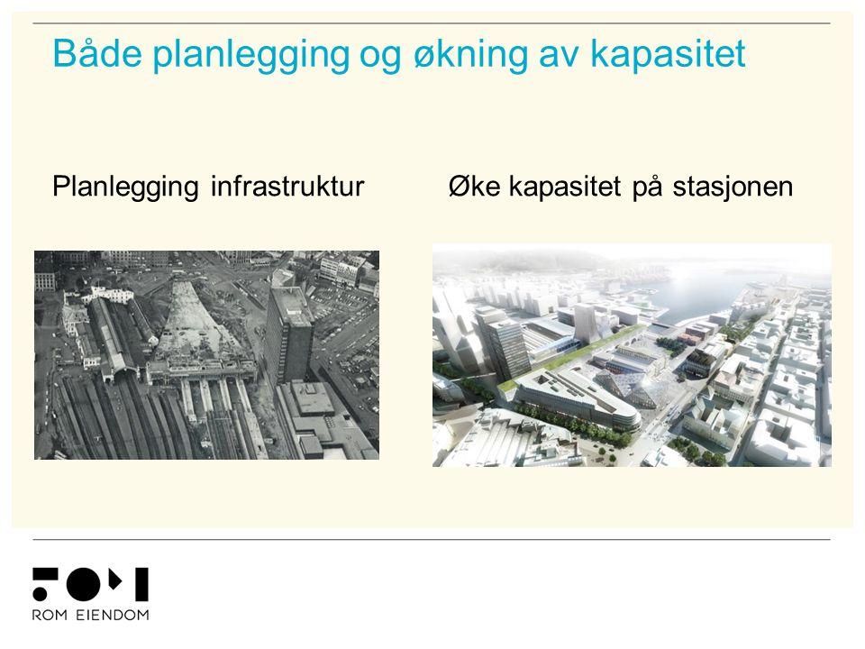 Både planlegging og økning av kapasitet Planlegging infrastrukturØke kapasitet på stasjonen