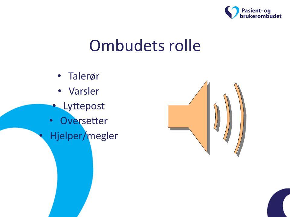 Ombudets rolle • Talerør • Varsler • Lyttepost • Oversetter • Hjelper/megler