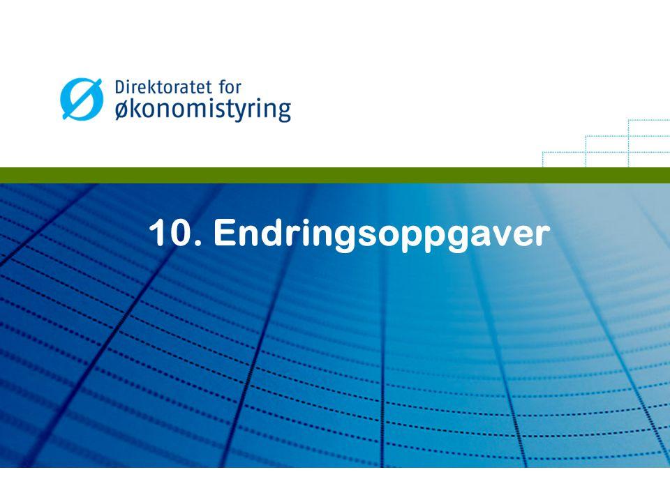 10. Endringsoppgaver