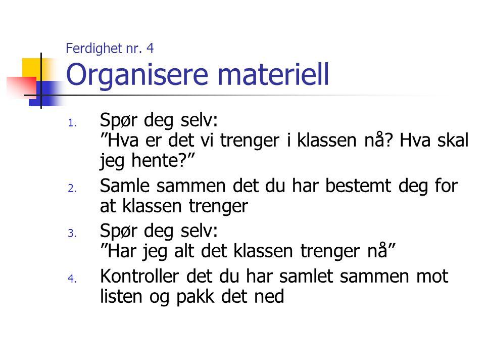 Ferdighet nr.25 Å si unnskyld 1.