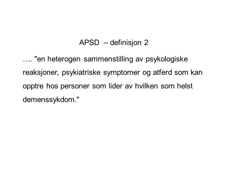 APSD – definisjon 2 ….