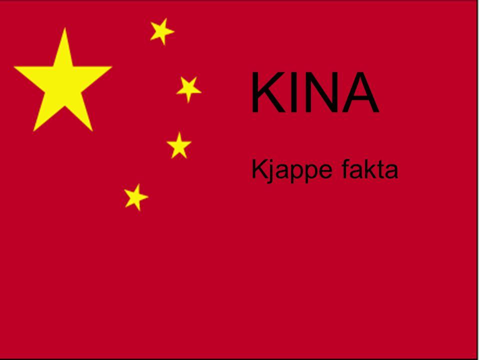 •Kina er 25 ganger så stort som Norge •Befolkning : 1,3 milliarder