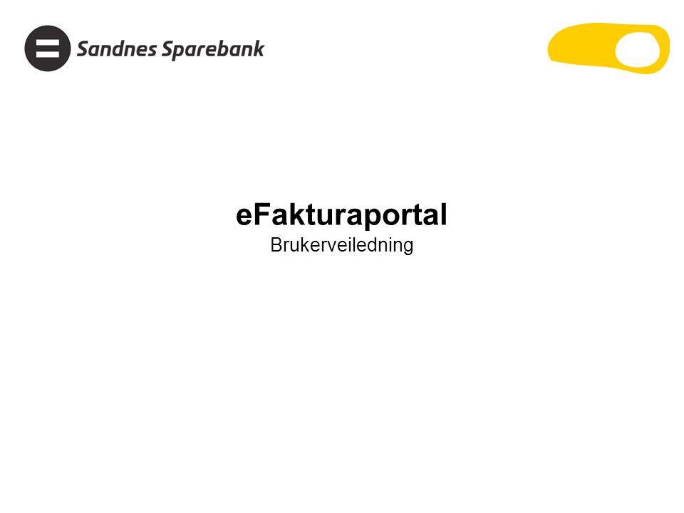 eFakturaportal Brukerveiledning