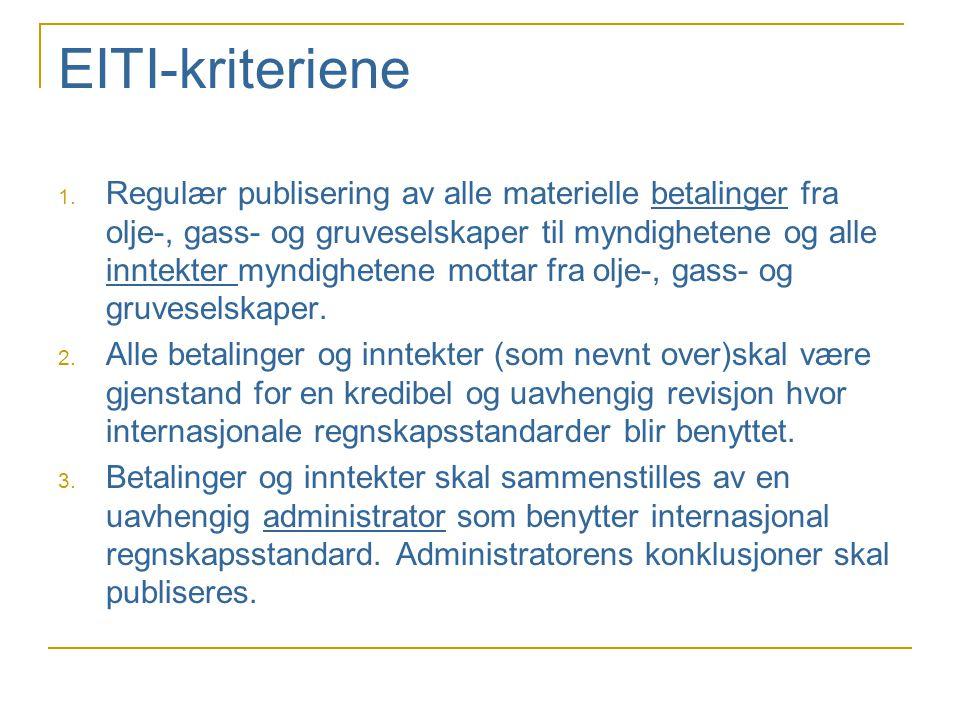 EITI-kriteriene 1.