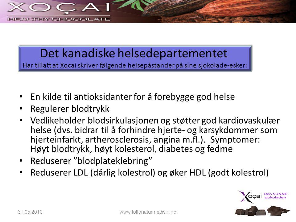 16 • En kilde til antioksidanter for å forebygge god helse • Regulerer blodtrykk • Vedlikeholder blodsirkulasjonen og støtter god kardiovaskulær helse