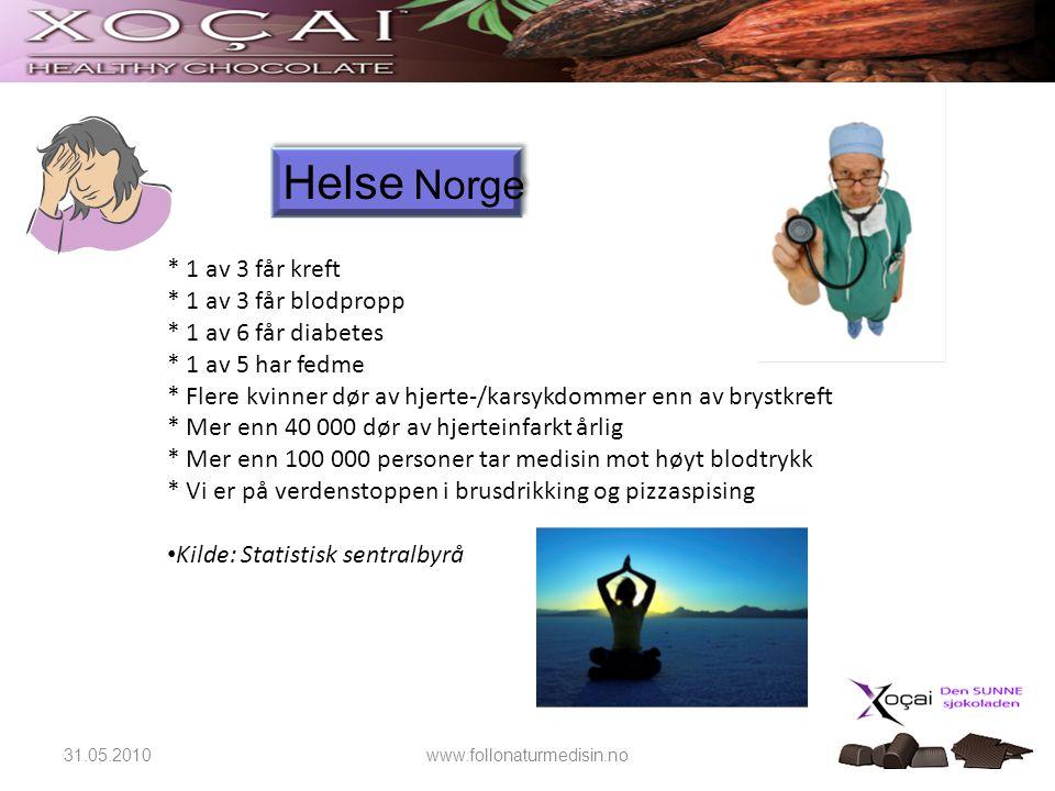Dagens helsesituasjon i Norge Dagens helsesituasjon i Norge Info fra Reseptregisterert pr.
