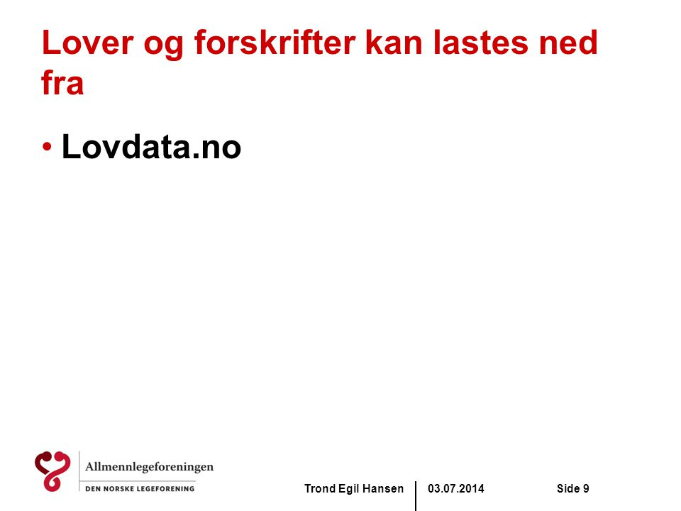 03.07.2014Trond Egil HansenSide 50 Rammeavtalene.