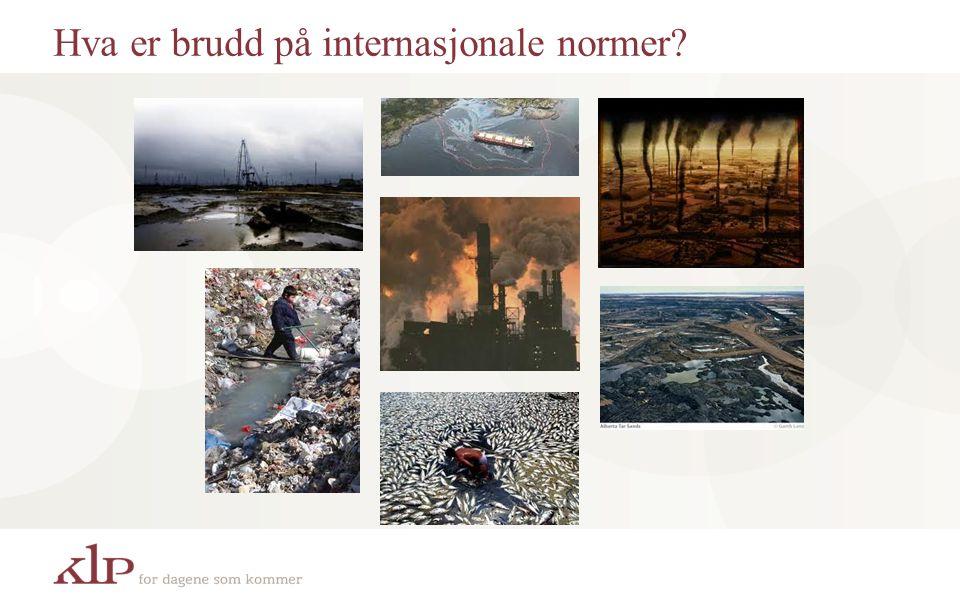 Hva er brudd på internasjonale normer?