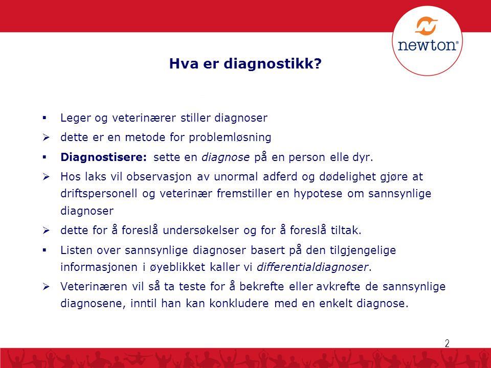 Hva er diagnostikk?  Leger og veterinærer stiller diagnoser  dette er en metode for problemløsning  Diagnostisere: sette en diagnose på en person e