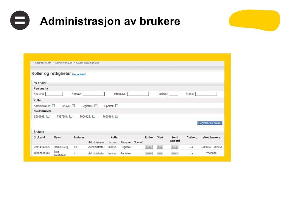 Administrasjon av brukere
