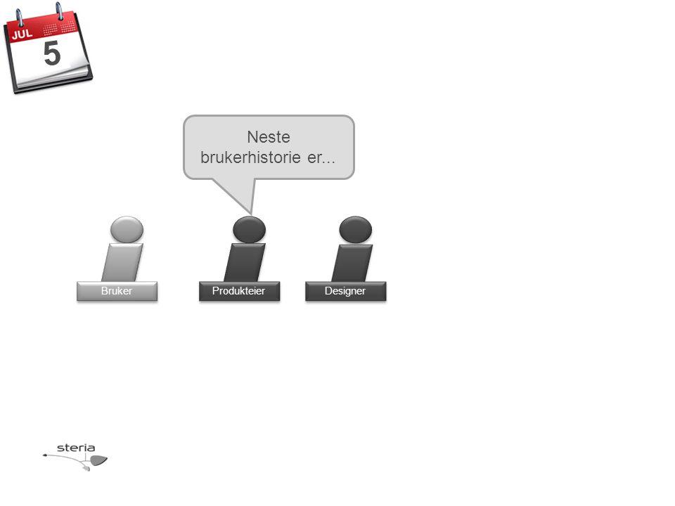 Produkteier Bruker Neste brukerhistorie er... Designer 5