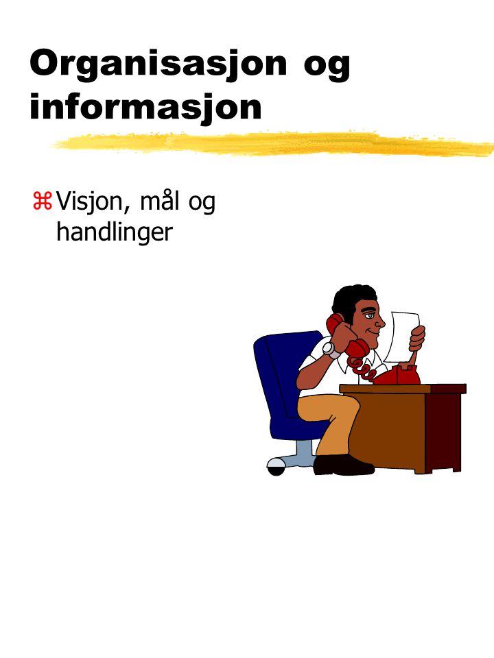 Organisasjon og informasjon zVisjon, mål og handlinger
