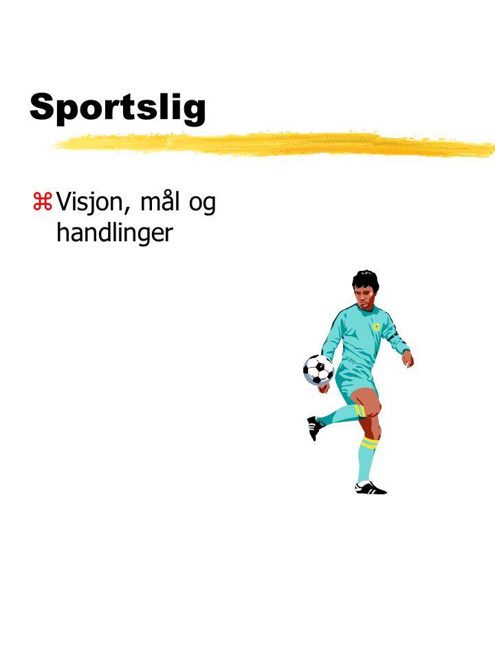 Sportslig zVisjon, mål og handlinger