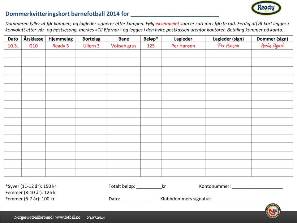 03.07.2014Norges Fotballforbund | www.fotball.no