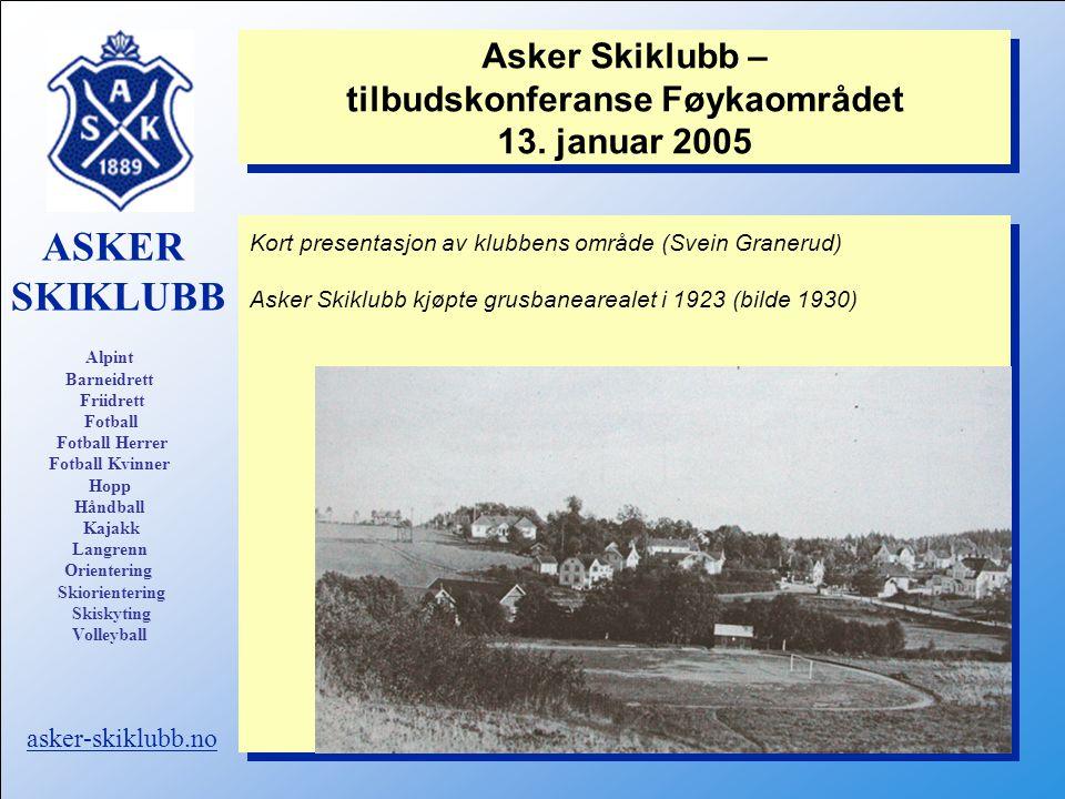 Asker Skiklubb – tilbudskonferanse Føykaområdet 13.