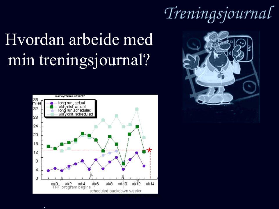Jarl Espen Sjursen Hvordan arbeide med min treningsjournal?