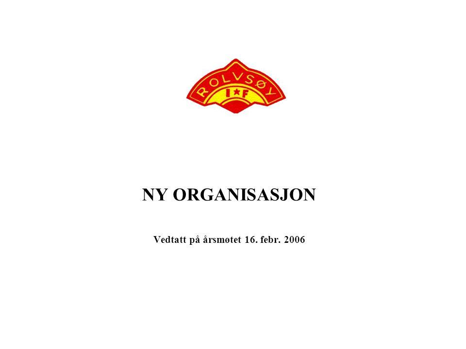 NY ORGANISASJON Vedtatt på årsmøtet 16. febr. 2006