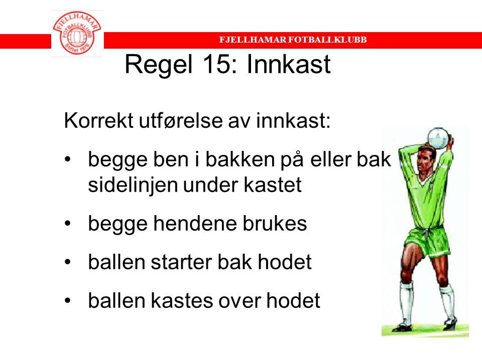 FJELLHAMAR FOTBALLKLUBB Til regel 13: Frispark Hands Merk deg forskjellen StraffbarIkke straffbar