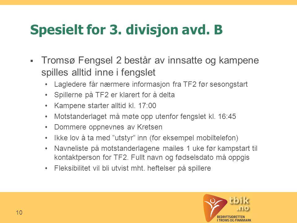 10 Spesielt for 3. divisjon avd.