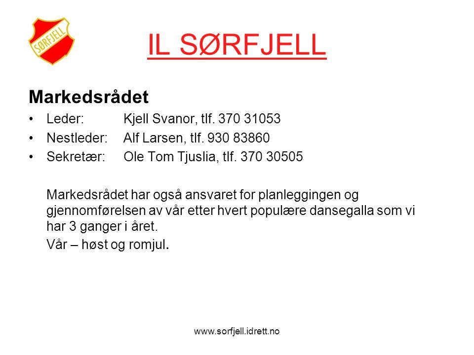 www.sorfjell.idrett.no IL SØRFJELL Markedsrådet •Leder: Kjell Svanor, tlf.