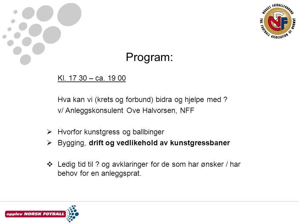 Program: Kl. 17 30 – ca. 19 00 Hva kan vi (krets og forbund) bidra og hjelpe med .