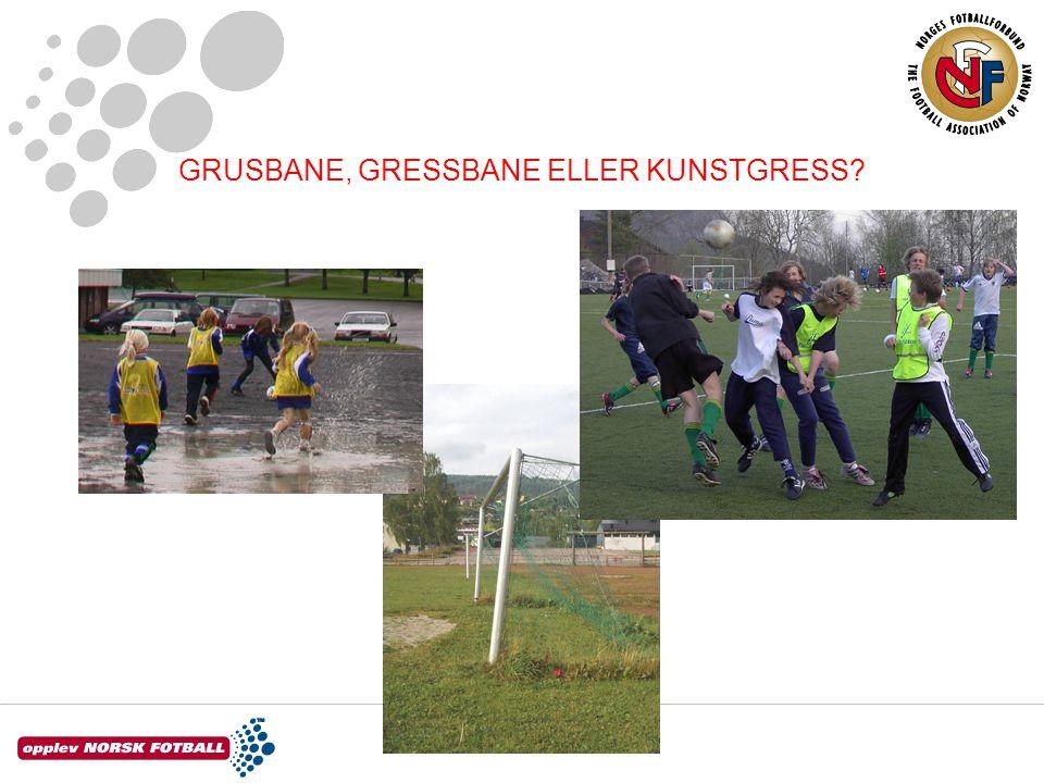 GRUSBANE, GRESSBANE ELLER KUNSTGRESS