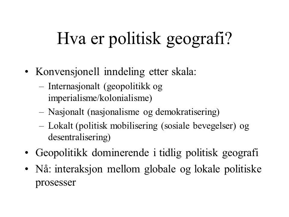 Hva er politisk geografi.
