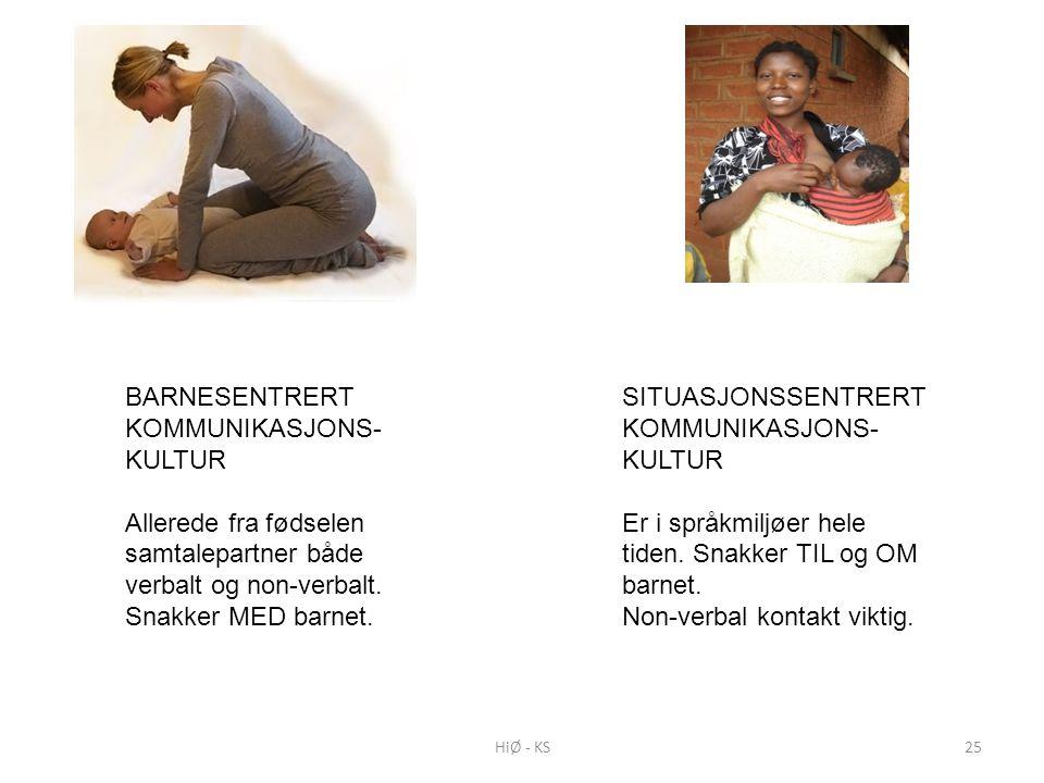 BARNESENTRERT KOMMUNIKASJONS- KULTUR Allerede fra fødselen samtalepartner både verbalt og non-verbalt.